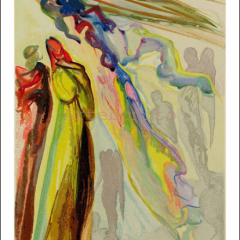 Salvador Dali Paradise 16, Woodcut - Divine Comedy
