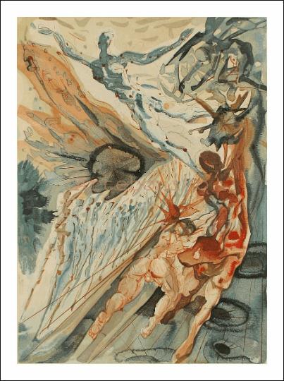 Salvador Dali, Purgatory 26, Woodcut, Divine Comedy