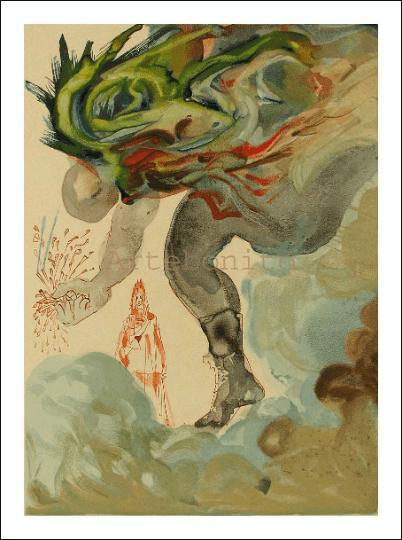 Salvador Dali, Hell 31, Woodcut, Divine Comedy