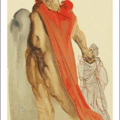 Salvador Dali, Purgatory 5, Woodcut, Divine Comedy