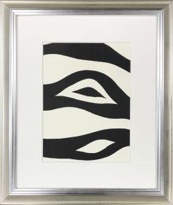 silver black wood frame