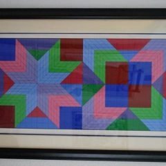 "Victor Vasarely Serigraph ""Door"" Pencil Signed & numbered"
