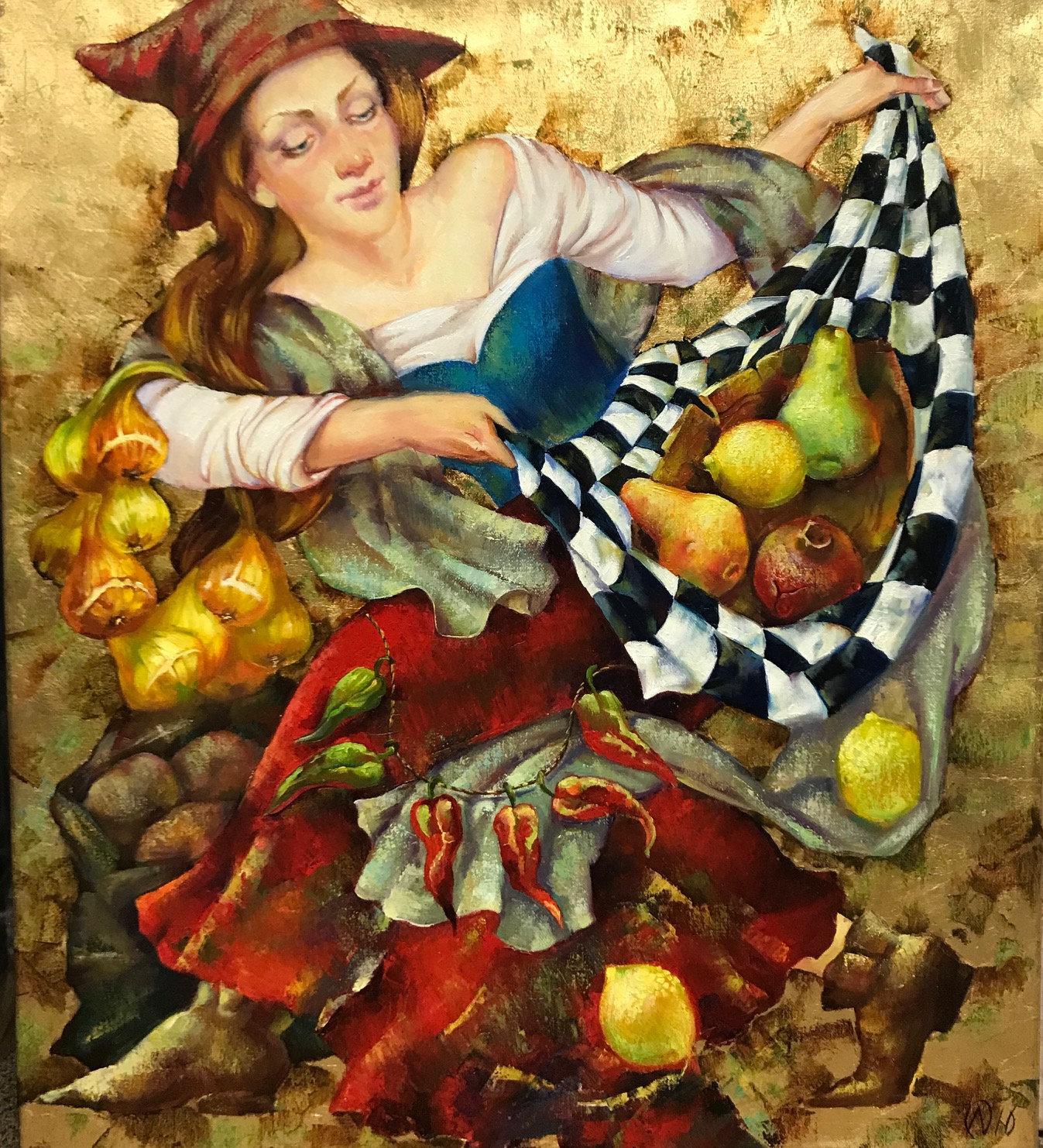 Olga Naletova, Autumn came, Oil on canvas, Signed
