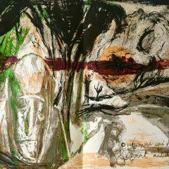 Pierre Parsus  Poster Original Lithograph  Bon homme 1974,   Abstract  Surrealism