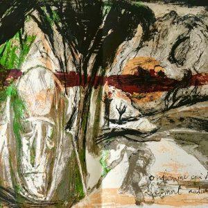 Pierre Parsus Original Lithograph Bon homme 1974