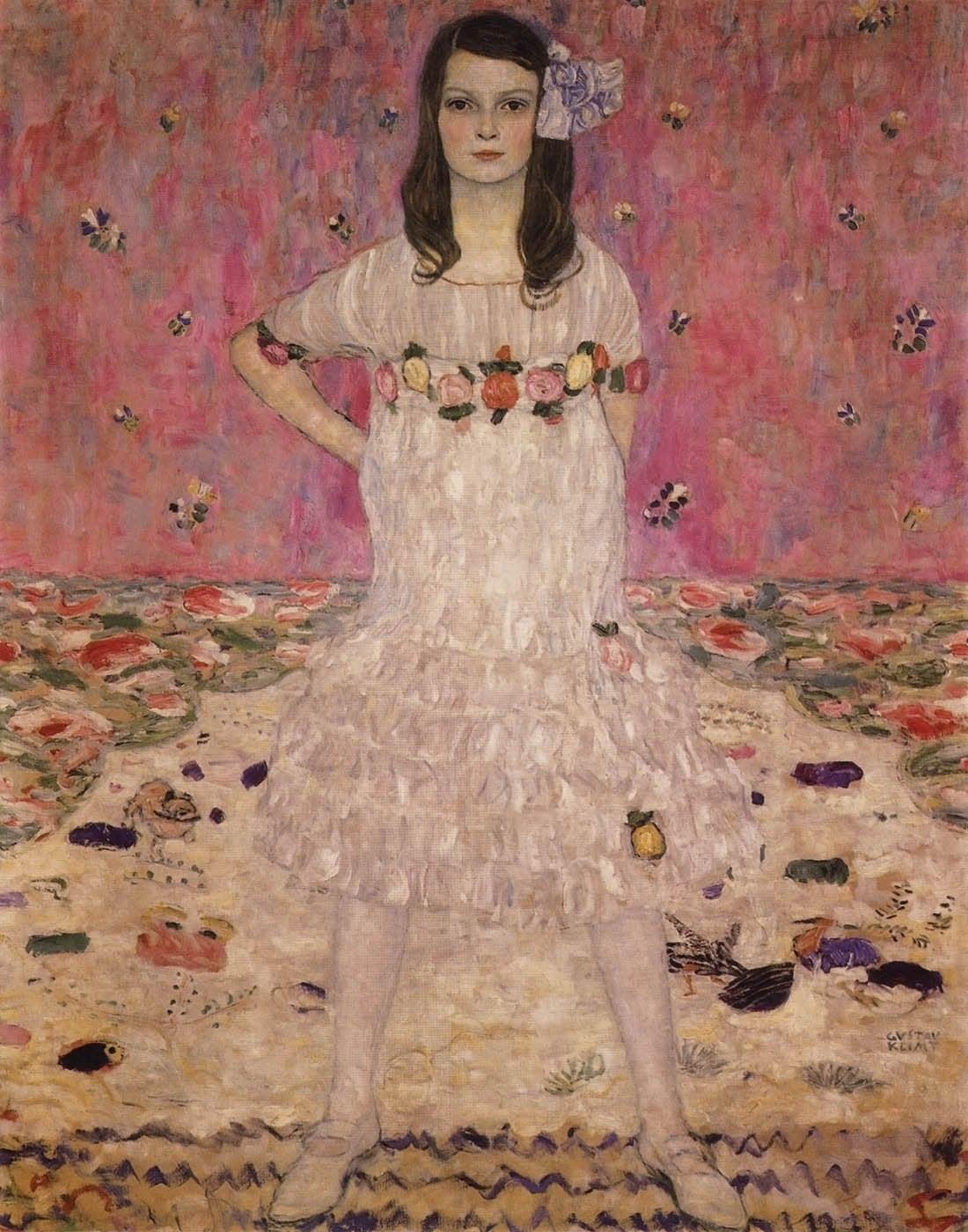 Klimt, Portrait of Madam Primavesi, Giclee Limited Edition