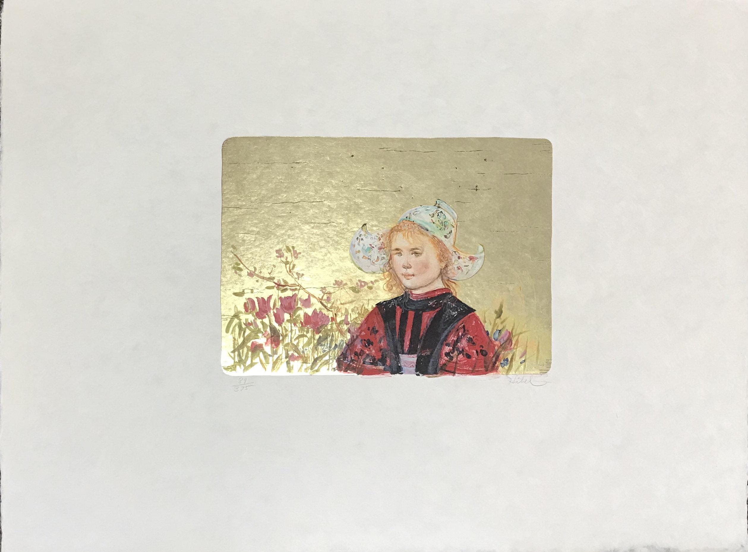 Edna Hibel, Klassina, Pencil Signed Original Lithograph 1977