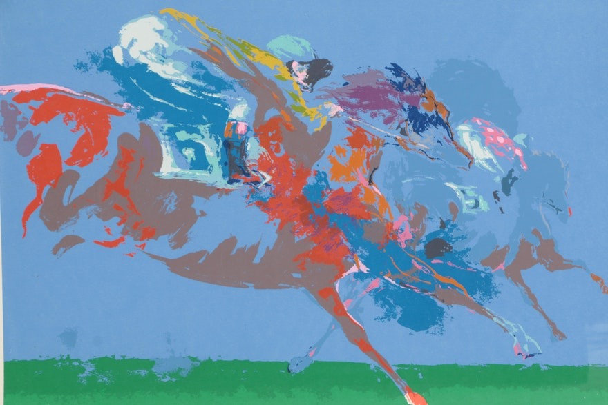 Leroy Neiman, In the Stretch, Original Serigraph Pencil Signed 1972