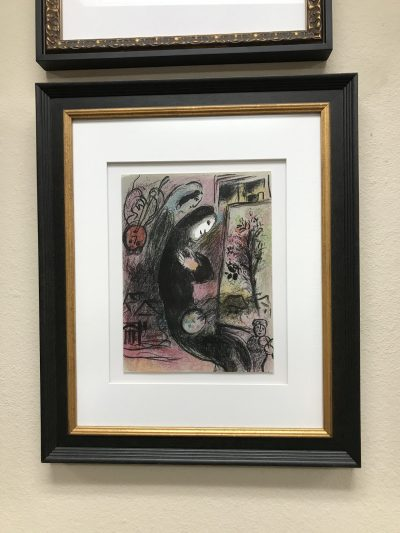 Marc Chagall Inspiration, Original Lithograph vol 2, 1963, Framed