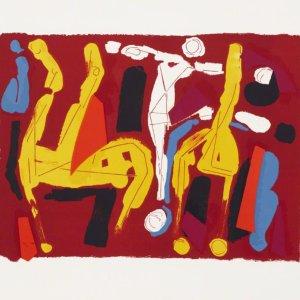 Marino Marini Pencil Signed Original lithograph 1974 numbered, Chevaux et Cavalier V