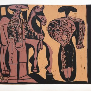 Pablo Picasso Linogravures Picador et taureau, 1962