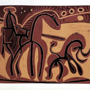 Pablo Picasso 4, Linogravures Picador et taureau, 1962