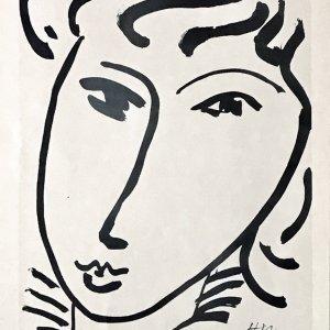 Henri Matisse Heliogravure 1968 Tete de jeune fille, Cercle d'Art Paris