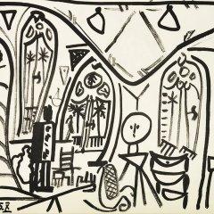 Pablo Picasso Sketchbook lithograph No 10  date 1/11/1955,  Cubism, Modern Art