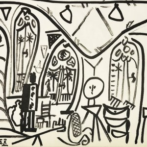 Picasso Sketchbook Lithograph No 10, dated 1/11/1955