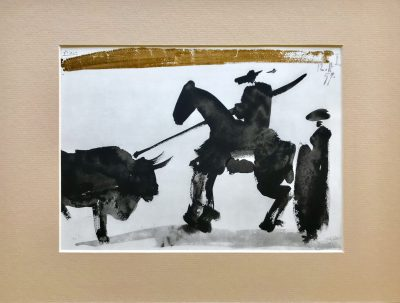 Pablo Picasso, Toreros No 16, Before the thrust 1961, Matted in clear plastic bag, Ready to Frame