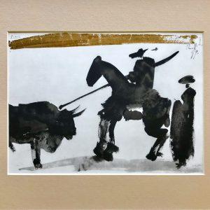 Picasso Toreros No 16, Before the thrust, 1961