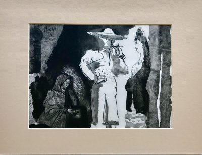 Pablo Picasso, Toreros No 99, Picador and women 1961, Matted in clear plastic bag, Ready to Frame