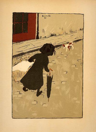 Bonnard Lithograph 81, Le petite blanchisseuse 1952