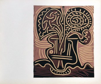 Picasso Linogravure 11, Le vase des fleurs 1962
