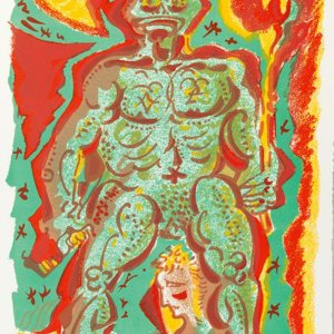 Andre Masson Pencil Signed Original Lithograph 1972, Le Peigne de Crapaudette