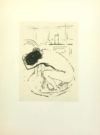 Pierre Bonnard Lithograph 37, Le Tub 1952