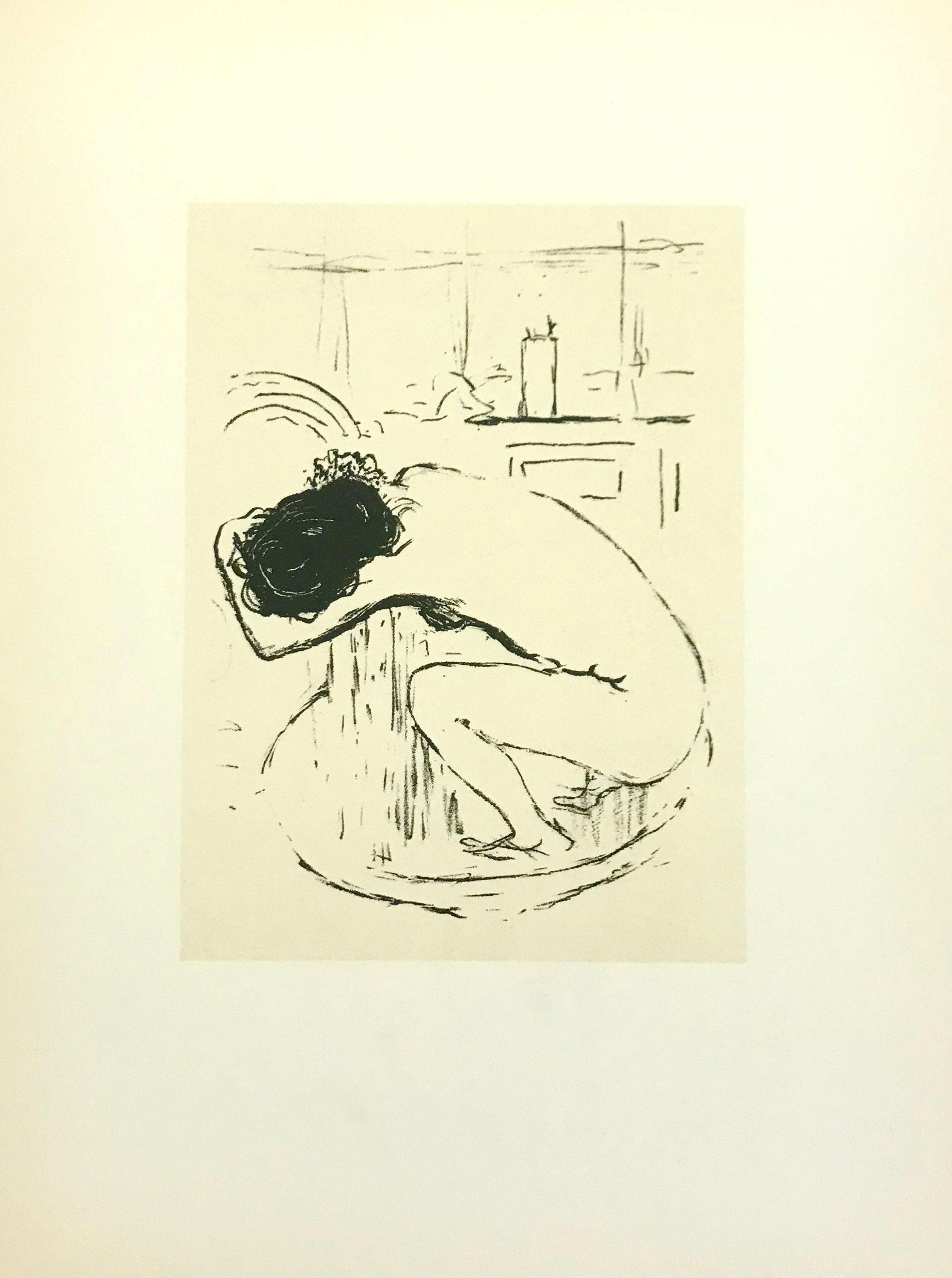Bonnard Lithograph 31, Le Tub 1952