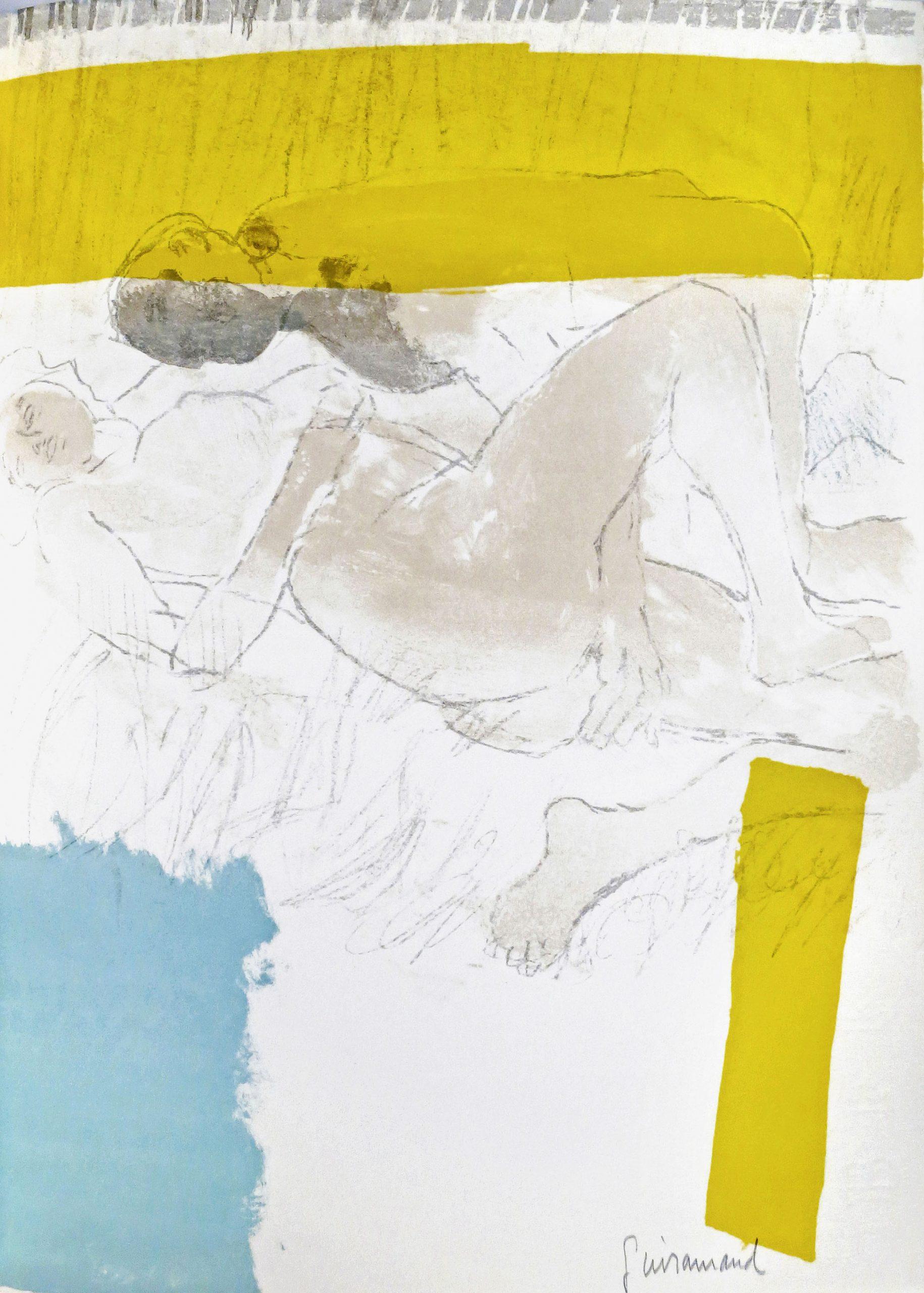 Paul Guiramand, Pencil Signed Original Lithograph, La licorne 1968