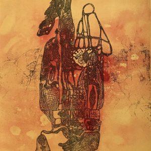 Fred Deux, Pencil Signed Original Lithograph, Vertige du il 1972