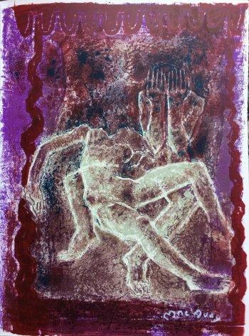 Edouard Mac'Avoy, Signed Original Lithograph, Aveu Monosyllabique 1968