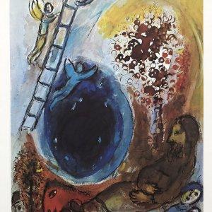 Marc Chagall Echelle de jacob, DM03225 Derriere le miroir 1977