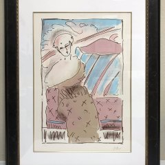 Peter Max, Serigraph Pencil Signed & numbered 117/175, well framed, Mid-Century Modern