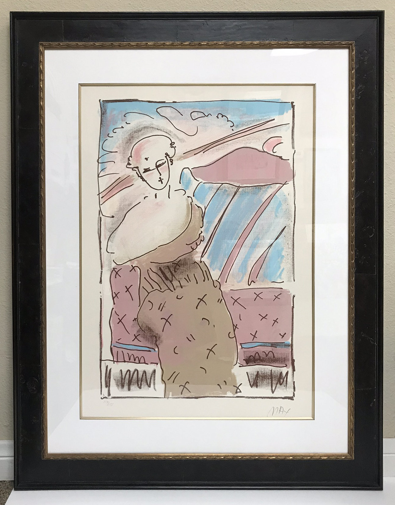 Peter Max, Serigraph Pencil Signed & numbered, framed