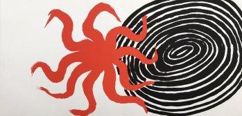Calder Original Lithograph AB3d, 1972