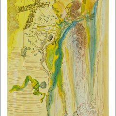 Salvador Dali,   Paradise 12   Divine Comedy,  Original Woodcut,  Surrealism