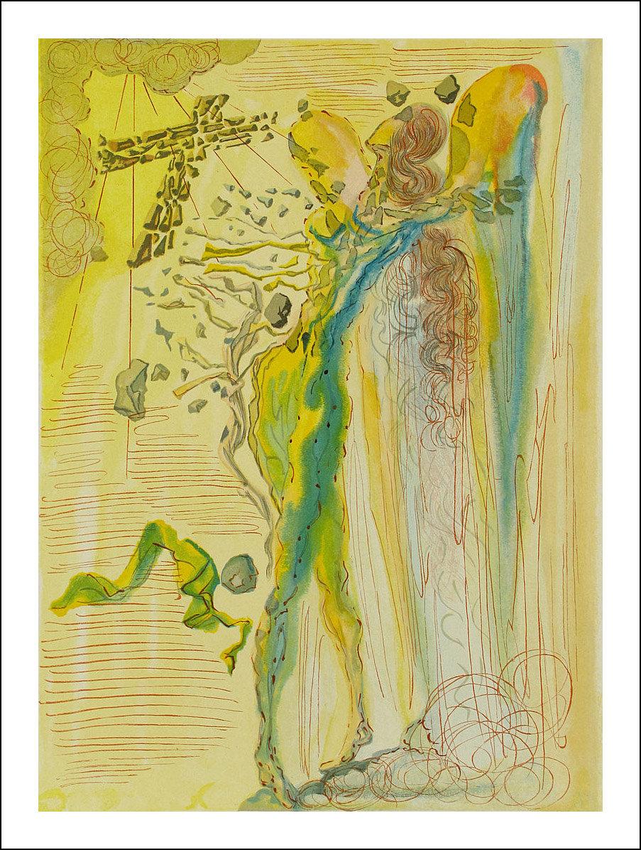 Salvador Dali, Original Woodcut, Paradise 12, Divine Comedy