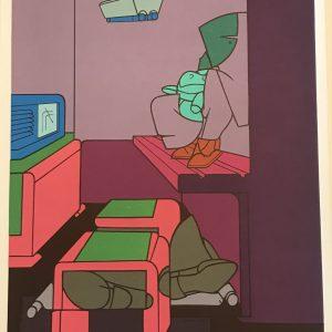 Adami Lithograph, DM05188, Derriere le Miroir 1970