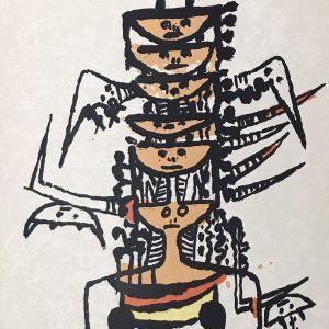 Wifredo Lam, Original Lithograph, Ediciones Poligrafa 1979