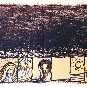Alechinsky Lithograph DM2247d, Derriere le Miroir 1981