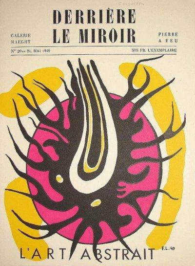 Fernand Leger Original lithograph 1949,Derriere le Miroir DM012021