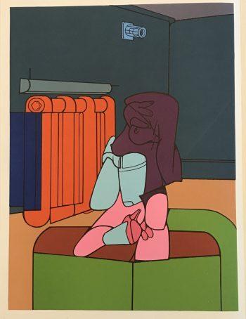 Adami Lithograph DM02188, Derriere le Miroir 1970