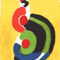 Sonia Delaunay, Original Lithograph printed 1972,   XX siecle,  Contemporary Art
