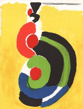 Sonia Delaunay Original Lithograph, XX siecle 1972