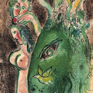 Marc Chagall, Original Lithograph 1960, Drawings for the Bible, Paradise 2