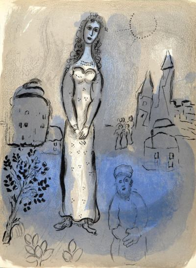 Marc Chagall, Original Lithograph 1960, Drawings for the Bible, Esther