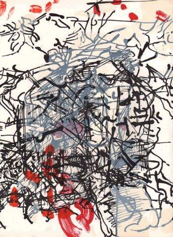 Riopelle, Original Lithograph, DM017171, Derriere le Miroir 1968
