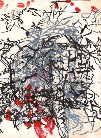 Jean-Paul Riopelle, Original Lithograph, DM017171, Derriere le Miroir 1968