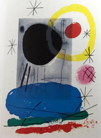 Joan Miro, Original Lithograph DM04151, Derriere le Miroir 1970