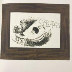 """Georges Braque Lithograph """"La Guitare"""" 1963 Mourlot"""