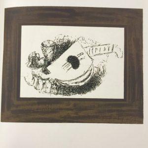 Braque Lithograph p79 La Guitare, Mourlot 1963